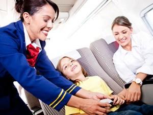 Media cabin-crew w child
